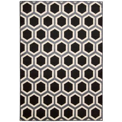 Severin Black/Ivory Area Rug Rug Size: 22 x 73