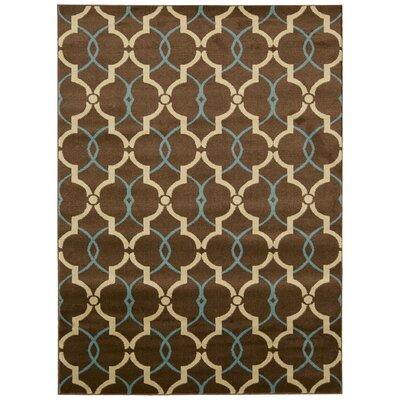 Severin Brown Area Rug Rug Size: 53 x 73