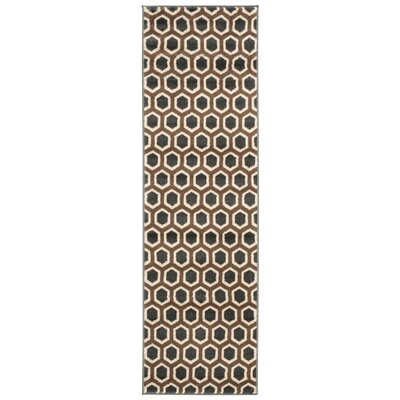 Severin Gray / Brown Area Rug Rug Size: Runner 22 x 73