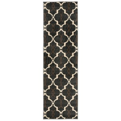 Severin Dark Gray/Ivory Area Rug Rug Size: Runner 22 x 73