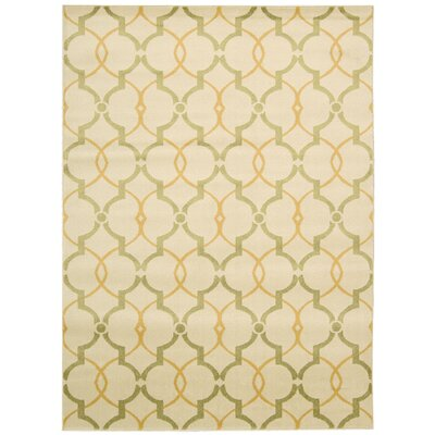 Severin Ivory Area Rug Rug Size: 53 x 73