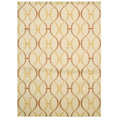 Severin Ivory Area Rug Rug Size: Rectangle 53 x 73