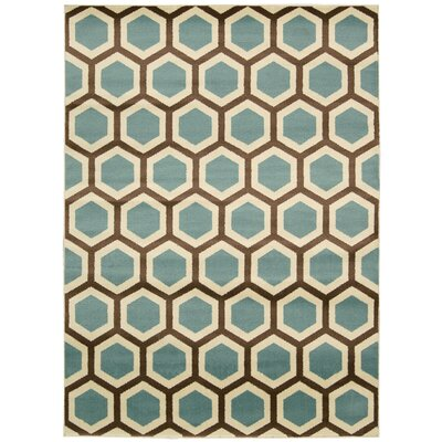 Severin Ivory/Blue Rug Rug Size: Rectangle 311 x 53