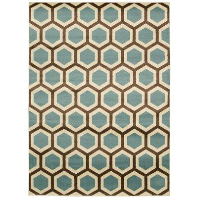 Severin Ivory/Blue Rug Rug Size: 311 x 53
