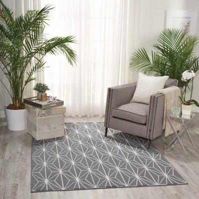 Severson Gray Area Rug Rug Size: 53 x 73