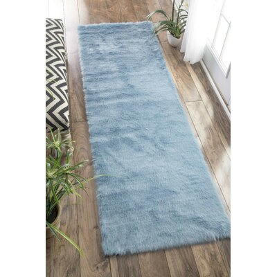 Shadwick Blue Area Rug Rug Size: Runner 26 x 8
