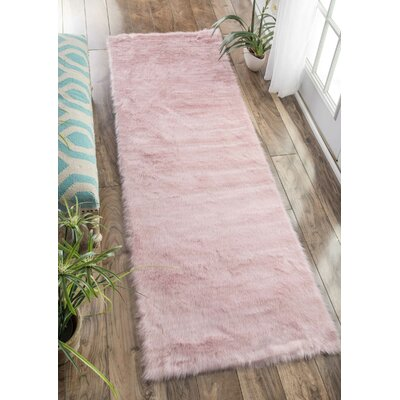Shadwick Pink Area Rug Rug Size: Runner 26 x 8