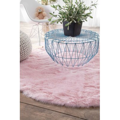 Shadwick Pink Area Rug Rug Size: Rectangle 9 x 12