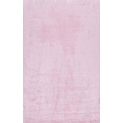 Shadwick Pink Area Rug Rug Size: 5 x 7