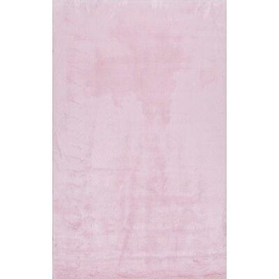 Shadwick Pink Area Rug Rug Size: 76 x 96