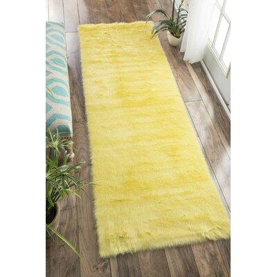 Shadwick Yellow Area Rug Rug Size: Runner 26 x 8