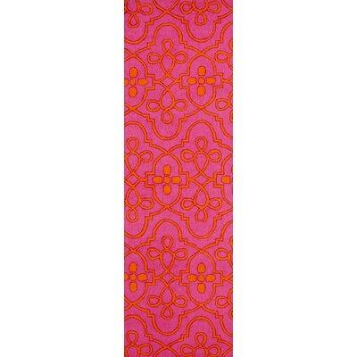 Shearer Fuchsia Oriental Area Rug Rug Size: Runner 26 x 8
