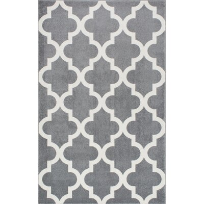 Sherrer Gray Area Rug Rug Size: Rectangle 53 x 77