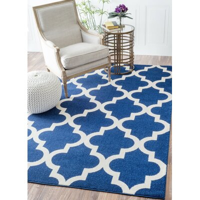 Clove Navy Area Rug Rug Size: Rectangle 710 x 112
