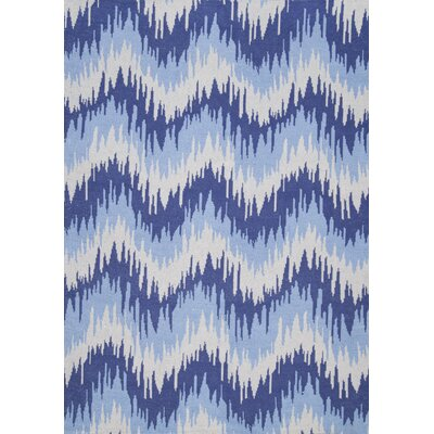 Tabit Hand-Loomed Blue Area Rug Rug Size: 76 x 96