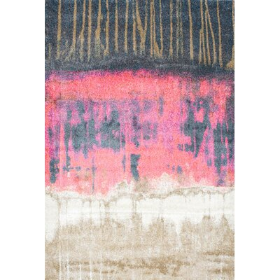 Tabris Pink Area Rug Rug Size: 710 x 1010