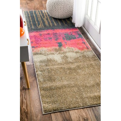 Tabris Pink Area Rug Rug Size: Runner 26 x 8