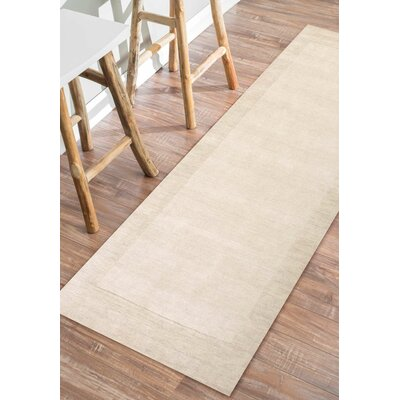 Tadlock Hand-Woven Beige Area Rug Rug Size: Rectangle 76 x 96