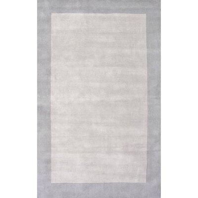 Tadlock Hand-Woven Gray Area Rug Rug Size: 5 x 8