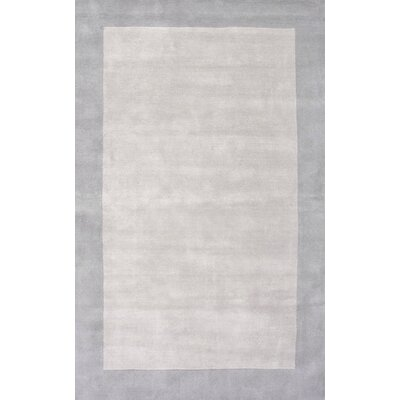 Tadlock Hand-Woven Gray Area Rug Rug Size: 76 x 96
