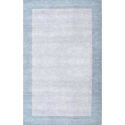 Tadlock Hand-Woven Light Blue Area Rug Rug Size: 6 x 9