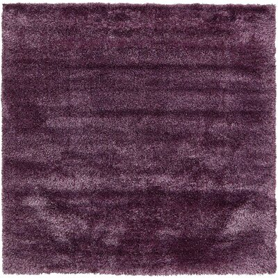 Shriver Fig Purple Area Rug Rug Size: Square 8