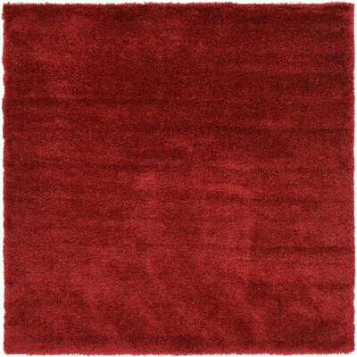 Shriver Red Area Rug Rug Size: Square 8