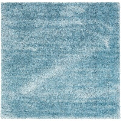 Shriver Light Blue Area Rug Rug Size: Square 8'