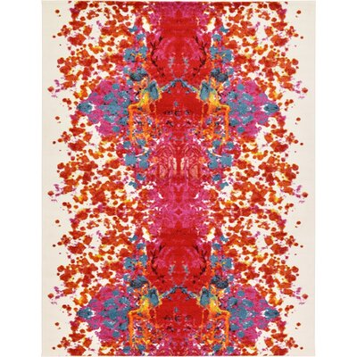 Shuman Red Area Rug Rug Size: 9' x 12'