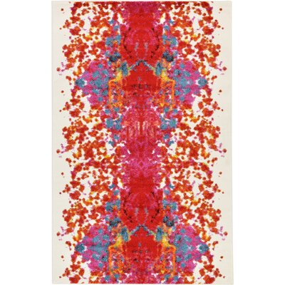 Shuman Red Area Rug Rug Size: 5 x 8