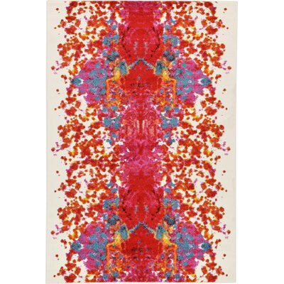 Shuman Red Area Rug Rug Size: 6 x 9