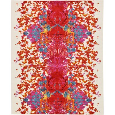 Shuman Red Area Rug Rug Size: Rectangle 8 x 10