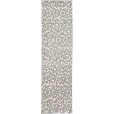 Spady Gray Area Rug Rug Size: Runner 27 x 10