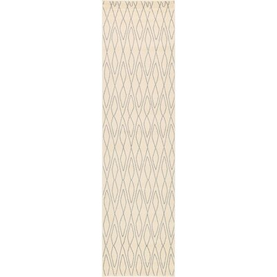 Spady Ivory Area Rug Rug Size: Runner 27 x 10