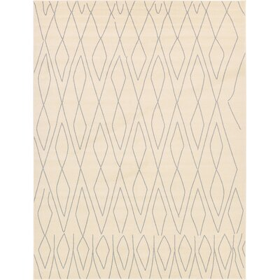 Doretha Ivory Area Rug Rug Size: Rectangle 9 x 12