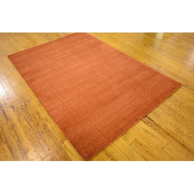 Tawney Rust Red Area Rug Rug Size: 4'7