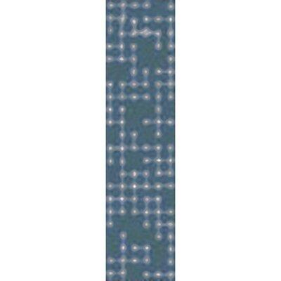Serpentis Hand-Hooked Bright Blue/Sage Area Rug Rug size: Runner 26 x 8