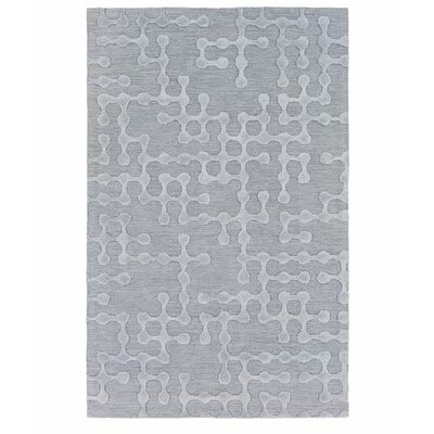 Serpentis Hand-Hooked Light Gray/Sage Area Rug Rug size: Runner 26 x 8
