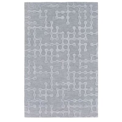 Serpentis Hand-Hooked Light Gray/Sage Area Rug Rug size: 5 x 8