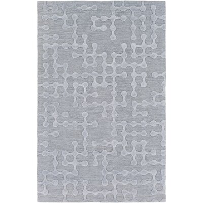 Serpentis Hand Woven Dark Purple/Taupe Area Rug Rug size: 4 x 6