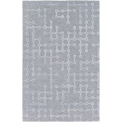 Serpentis Hand Woven Dark Purple/Taupe Area Rug Rug size: 5 x 8