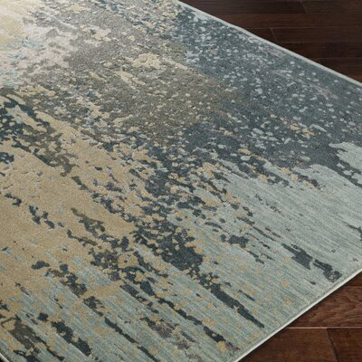 Serrato Brown/Green Area Rug Rug Size: Rectangle 110 x 211