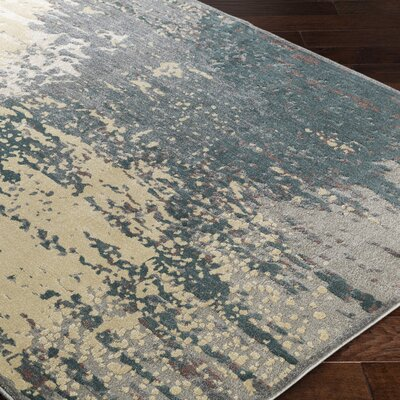 Serrato Brown/Green Area Rug Rug Size: 710 x 910