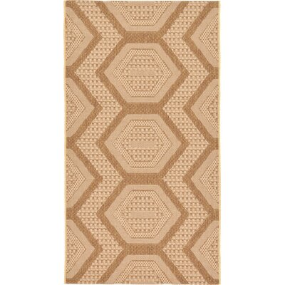 Tatman Tan Outdoor Area Rug Rug Size: 4 x 57