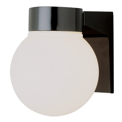 Warnick 1-Light Flush Mount Finish: Black