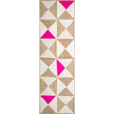 Sherrick Hot Pink Area Rug Rug Size: Rectangle 5 x 76