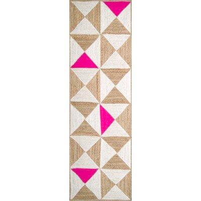 Sherrick Hot Pink Area Rug Rug Size: Runner 26 x 8
