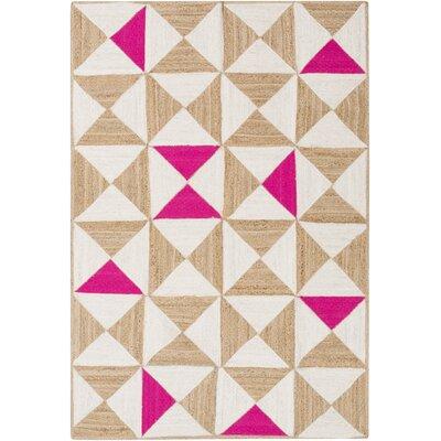 Sherrick Hot Pink Area Rug Rug Size: 2 x 3