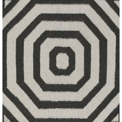 Soria Hand-Woven Grey/Brown Area Rug Rug Size: 4 x 6