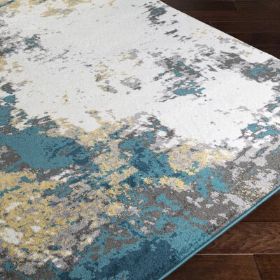 Shuff Blue/Yellow Area Rug Rug Size: Rectangle 2 x 3